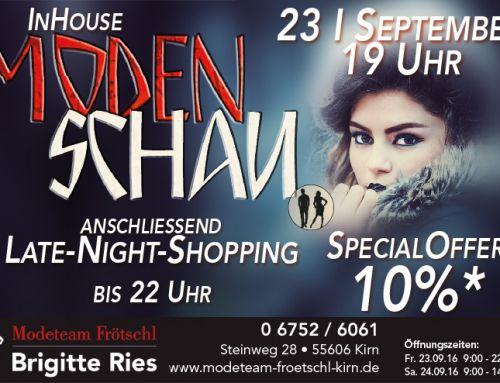 In House Modenschau 23,09,2016